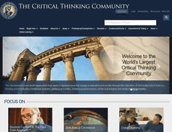 Thumbshot of Criticalthinking.org
