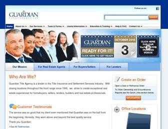 guardiantitleagency.com screenshot