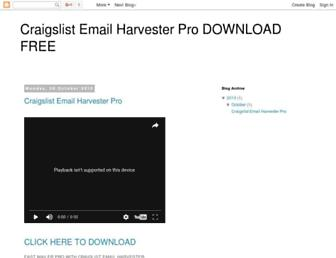 clharvesterdownload.blogspot.com screenshot