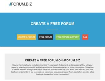 Main page screenshot of jforum.biz