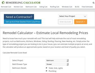 remodelingcalculator.org screenshot