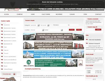 Main page screenshot of proprietaticluj.ro