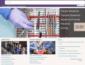 Main page screenshot of tambcd.edu