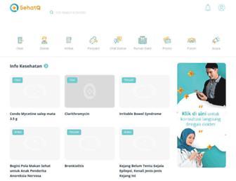 sehatq.com screenshot
