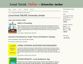 jurnal.unej.ac.id screenshot