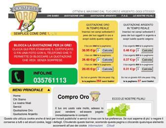 Main page screenshot of compro-oro.org