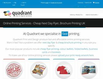 quadrantprint.co.uk screenshot