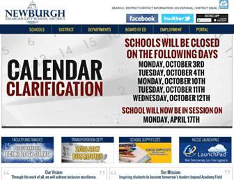 newburghschools.org screenshot
