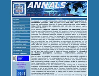 annals.fih.upt.ro screenshot