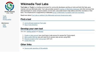 tools.wmflabs.org screenshot
