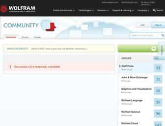 community.wolfram.com screenshot