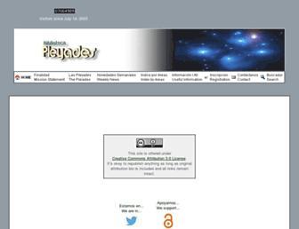 Main page screenshot of bibliotecapleyades.net