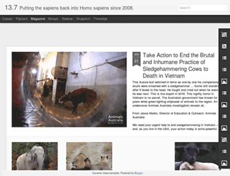 Main page screenshot of 13point7billion.org