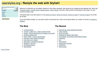 Thumbshot of Userstyles.org