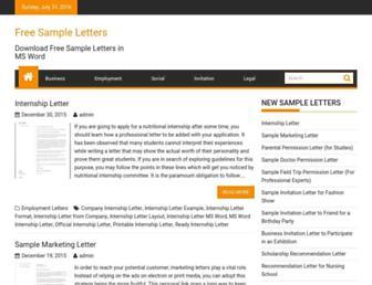 sampleletters4u.org screenshot