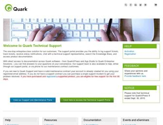 support.quark.com screenshot