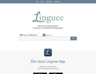 linguee.de screenshot