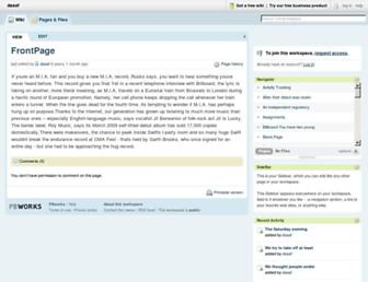 dasaf.pbworks.com screenshot