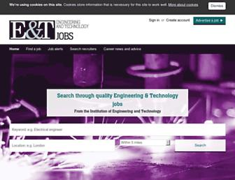 engineering-jobs.theiet.org screenshot