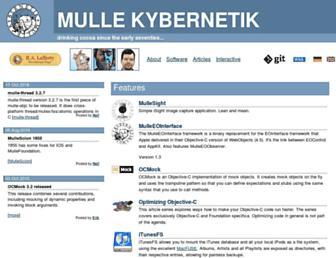 mulle-kybernetik.com screenshot