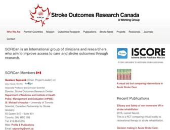 Main page screenshot of sorcan.ca