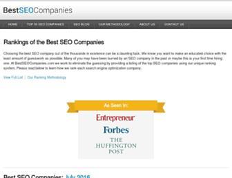 bestseocompanies.com screenshot