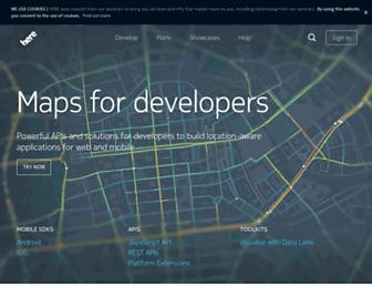 developer.here.com screenshot