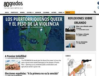80grados.net screenshot