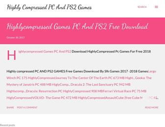 highlycompressedpcgamesfreedownload.blogspot.com screenshot