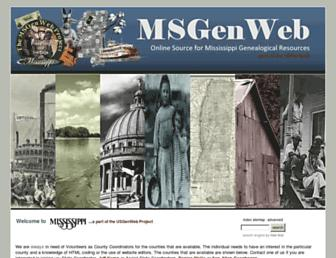 Main page screenshot of msgw.org