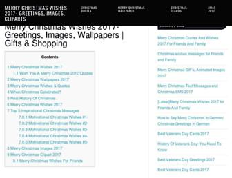 merrychristmas2017wishes.com screenshot