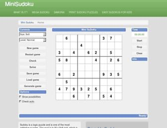 minisudoku.com screenshot
