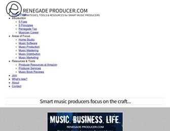 renegadeproducer.com screenshot
