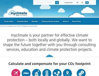 myclimate.org screenshot