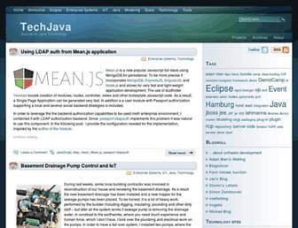 Main page screenshot of techjava.de