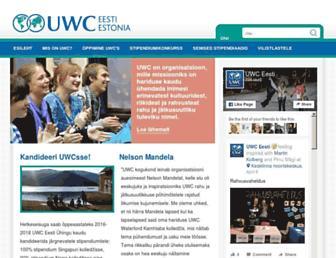 Main page screenshot of uwc.ee