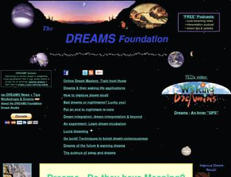 Main page screenshot of dreams.ca