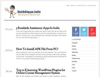 ssiddique.info screenshot