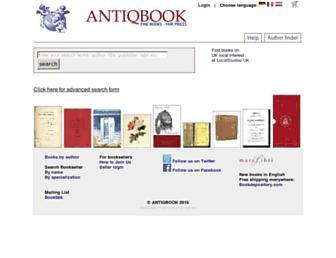 antiqbook.com screenshot