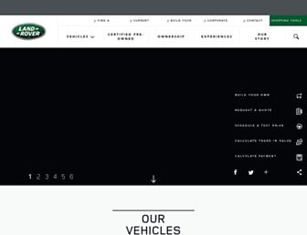landroverusa.com screenshot