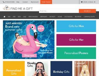 findmeagift.co.uk screenshot