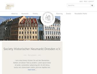 Main page screenshot of neumarkt-dresden.de