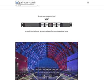 pharoscontrols.com screenshot