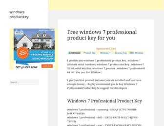 windowsproductkey.net screenshot