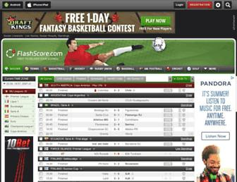 flashscore.com screenshot