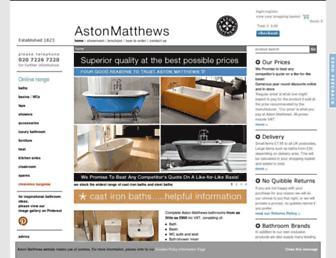 Main page screenshot of astonmatthews.co.uk