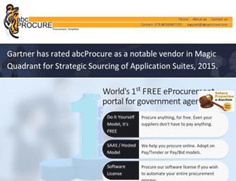 Thumbshot of Abcprocure.com