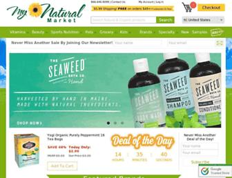 Thumbshot of Mynaturalmarket.com