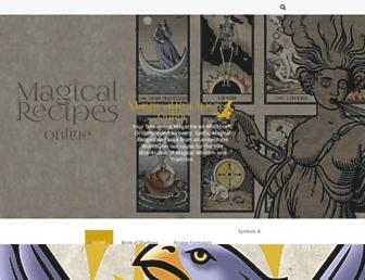magicalrecipesonline.com screenshot