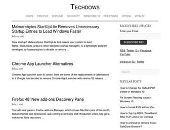 Thumbshot of Techdows.com
